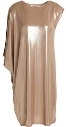 Halston Asymmetric Lamé Dress
