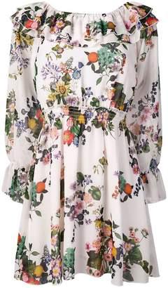 Liu Jo floral frill mini dress