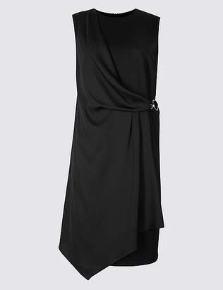 Marks and Spencer CURVE Side Buckle Wrap Midi Dress