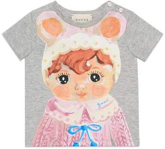 Gucci Baby T-shirt with doll print