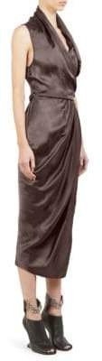 Rick Owens Limo Cupro Wrap Dress