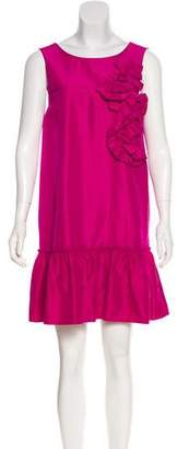 Robert Rodriguez Silk Embellished Mini Dress