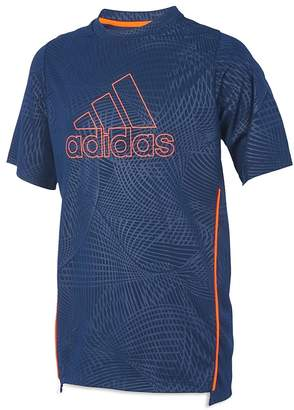 adidas Boys' Embossed Net Training Tee - Little Kid