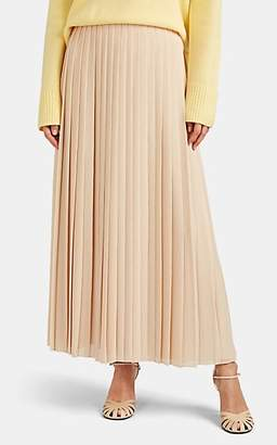 The Row Women's Sulu Pleated Chiffon Plissé Skirt - Butter