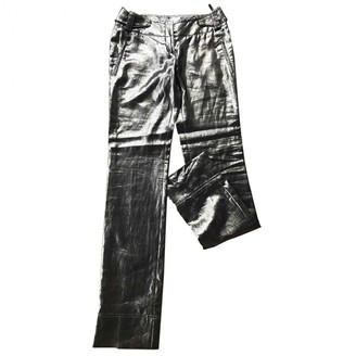 Christian Dior Silver Linen Trousers for Women Vintage