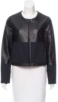Calvin Klein Leather Paneled Jacket
