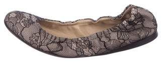 Valentino Lace Ballet Flats