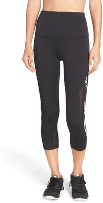Women's Zella Sheer To There High Waist Crop Leggings $69 thestylecure.com