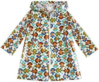 Monkeys Coated Cotton Rain Coat
