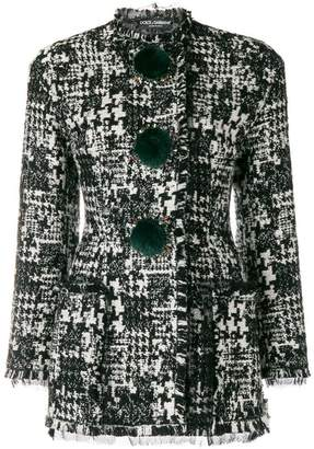 Dolce & Gabbana fitted pompom jacket