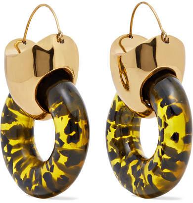 Ellery Hush Gold-plated Resin Earrings