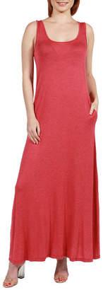 24/7 Comfort Apparel 24Seven Comfort Apparel Marion Sleeveless Tank Maxi Dress