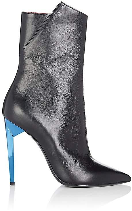 Saint Laurent Women's Freja Leather Ankle Boots