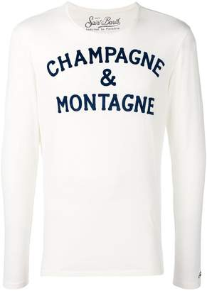 MC2 Saint Barth slogan print long sleeve top