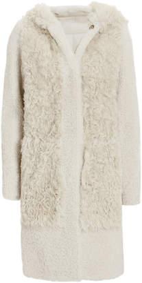 Yves Salomon Textured Shearling Coat