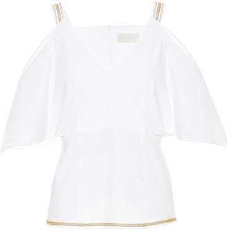 Peter Pilotto Off-the-shoulder cotton top