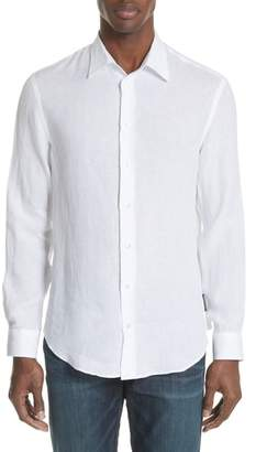 Emporio Armani Regular Fit Linen Dress Shirt