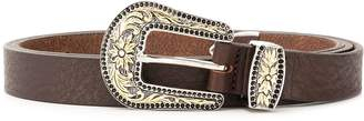 Eleventy embellished buckle belt