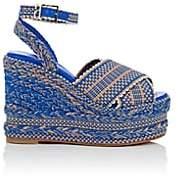 ANTOLINA Women's Candelaria Cotton Platform-Wedge Sandals - Blue