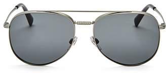 Valentino Aviator Sunglasses, 55mm $380 thestylecure.com