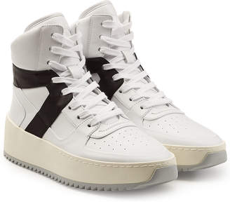 Fear Of God Basketball High Top Leather Sneakers