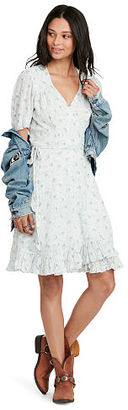 Ralph Lauren Denim & Supply Floral-Print Gauze Wrap Dress $125 thestylecure.com