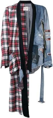 Greg Lauren deconstructed denim jacket