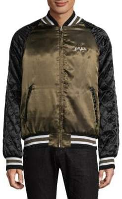 PRPS Tiger Quilted Satin Bomber Jacket
