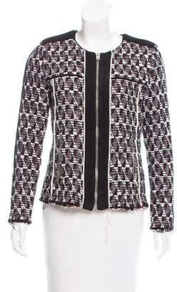 IRO Patterned Zip-Up Jacket