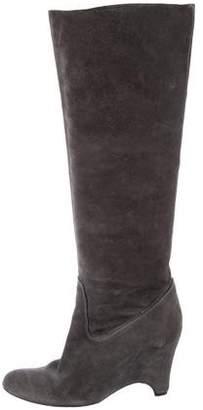 Roberto Del Carlo Suede Wedge Boots