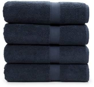 Linum HOME TEXTILES Sinemis Terry Bath Towels - Set of 4 - Navy