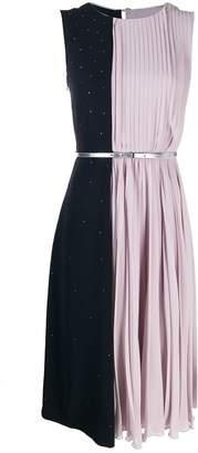 Max Mara pleated bicolour dress