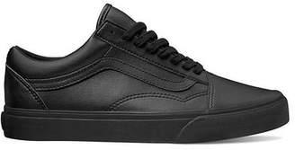 Vans Old Skool in Black Mono Tumble Dry Leather