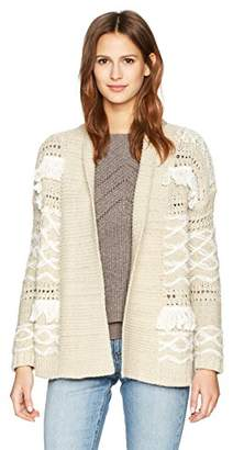 Lucky Brand Women's Fringe Cardigan Sweater