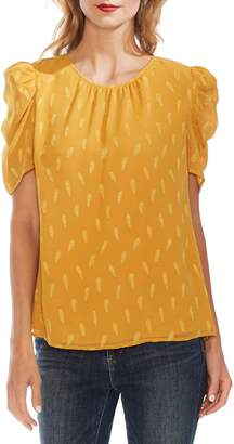 Vince Camuto Paisley Puff Shoulder Top