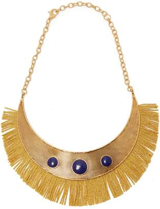 Aurelie Bidermann Azzura lapis stone fringe necklace