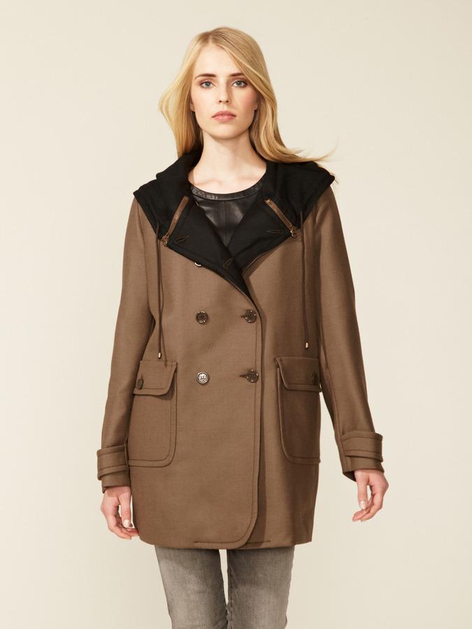 See by Chloe Wool Zipper Hooded Coat