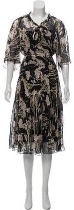 No.21 No. 21 Silk Printed Midi Dress w/ Tags