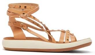 Ancient Greek Sandals Satira Embellished Leather Sandals - Womens - Tan