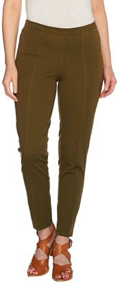 Isaac Mizrahi Live! Regular 24/7 Stretch Ankle Pants w/ Seam