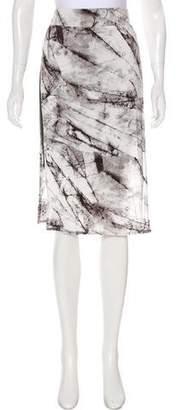 Helmut Lang Printed Knee- Length Skirt