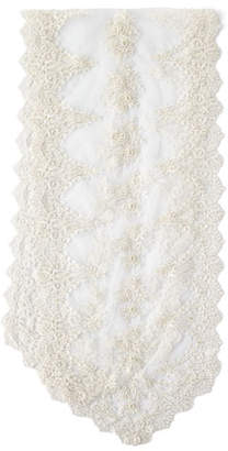 Nomi K Lace and Pearl Embroidered Table Runner