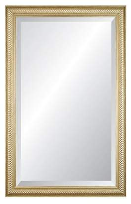 "Alpine Art & Mirror Wave Champagne 26"" x 41"" Beveled Glass Wall Mirror"