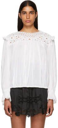 Etoile Isabel Marant White Broderie Anglaise Rock Blouse