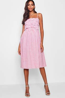 boohoo Knot-Front Strappy Sundress