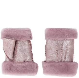 Gala Gloves fingerless shearling gloves