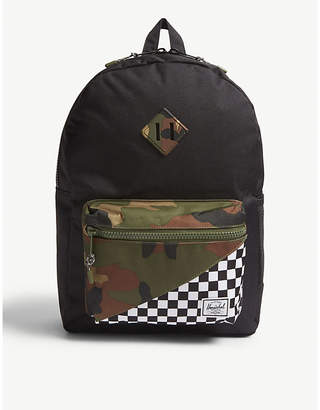 Herschel Heritage Youth XL camo and racing flag backpack