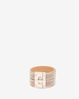 Express Double Chain Turnlock Cuff Bracelet