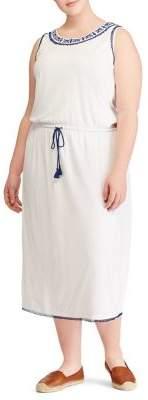 Lauren Ralph Lauren Plus Embroidered Midi Dress