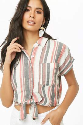 Forever 21 Brushed Multicolor Striped Shirt